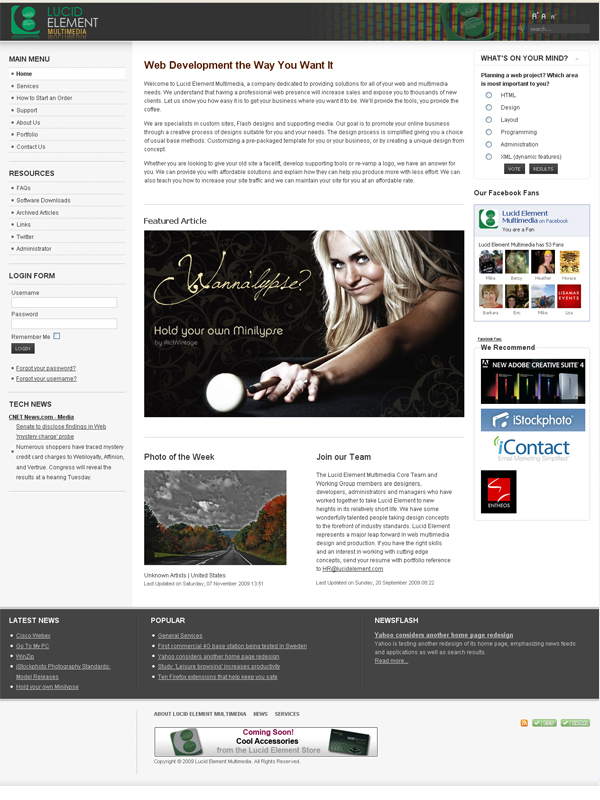 Lucid Element Multimedia – Joomla Platform