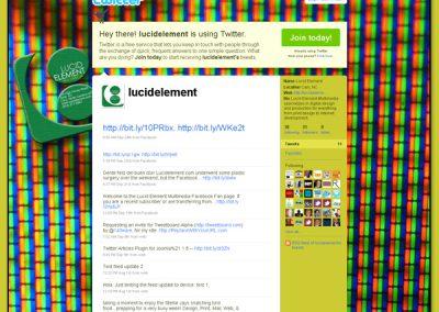 Lucid Element Multimedia – Twitter Page Design V2