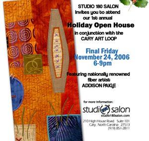 Studio 180 Salon – Postcard Design: Final Fridays