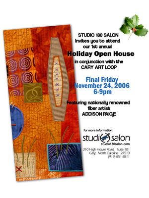 Studio 180 Salon – Postcard Design: Final Fridays