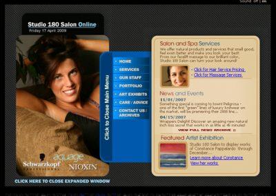 Studio 180 Salon – Flash Website v2