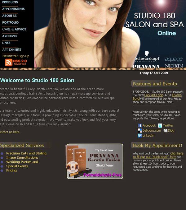Studio 180 Salon – Joomla Design