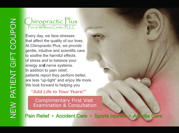 Chiropractic Plus – Postcard Layout